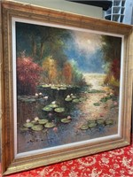 N - STUNNING FRAMED/SIGNED LILYPADS ON THE WATER