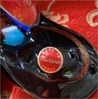 N - LARGE MURANO HAPPY CLOWN W/BALL