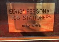 N - VINTAGE ELVIS PRESLEY TBC FRAMED MUG SHOT