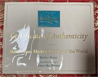 N - MILLENNIUM MICKEY ON TOP OF THE WORLD W/CERT
