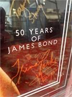 50 YRS OF JAMES BOND 16X24 SIGNED POSTER W/CERT