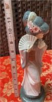 N - BEAUTIFUL ASIAN GIRL W/ FAN LLADRO