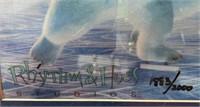 N - NUMBERED PAIR OF COCA~COLA POLAR BEAR WALL ART