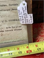 N - ANTIQUE AUTHENTIC LAND DEED FROM 1839