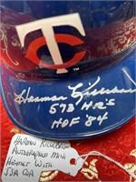 HARMON KILLEBREW AUTOGRAPHED MINI HELMET W/JSA COA