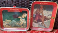 N - ORIGINAL COCA~COLA TRAYS FROM 1940'S