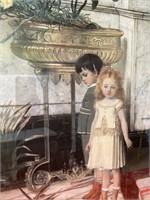 N - SIGNED & FRAMED BOY & GIRL WALL ART