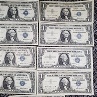 LOT OF 14 SILVER CERTIFICATES (26)