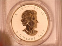 2012 Maple Leaf, Silver 5 CAD Reverse Proof