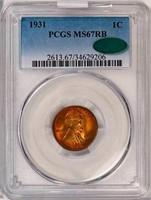1C 1931 PCGS MS67 RB CAC