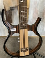 342 - HARMONIA SKELETON BASE GUITAR W/ STAND