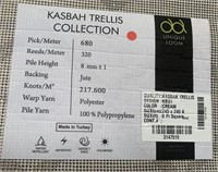 C - NEW KASBAH TRELLIS CREAM 8 X 8 AREA RUG (12)