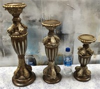 43 - NEW WMC 3PC SET OF CANDLE HOLDERS