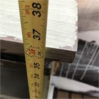 43 - NEW WMC ANTIQUE GREY SLIDING 2 DOOR CONSOLE