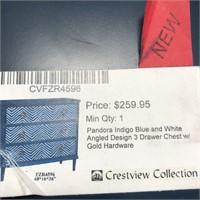 NEW WMC PANDORA INDIGO 3 DRAWER CHEST ($259.95)