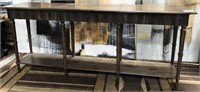 43 - NEW WMC SCALLOPED LEG CONSOLE TABLE ($299.95)