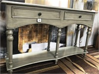 NEW WMC CHELSEA ANTIQUED CONSOLE TABLE ($239.95)