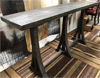 43 - NEW WMC SOLD WOOD CONSOLE TABLE