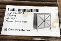 43 - NEW WMC RUSTIC WOOD 2 DOOR CABINET ($239.95)
