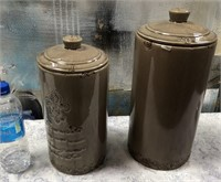 43 - NEW WMC PAIR OF COVERED CANISTERS