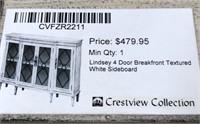 43 - NEW WMC 4 DOOR TEXTURED SIDEBOARD ($479.95)