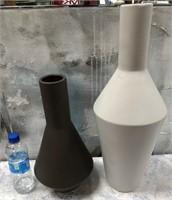 43 - NEW WMC WHITE & BLACK VASES