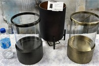 43 - NEW WMC LOT OF 3 CANDLE HOLDERS ($39.95)