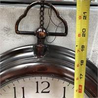 43 - NEW WMC LOT OF 3 WALL CLOCKS ($69.95)