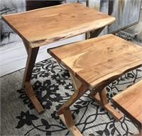 43 - NEW WMC SET OF 3 WOOD NESTING TABLES