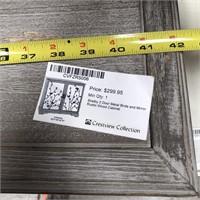 NEW WMC 2 DOOR METAL BIRDS/MIRROR WOOD CABINET