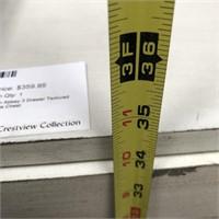 NEW WMC 3 DRAWER TEXTURED WHITE CHEST ($359.95)