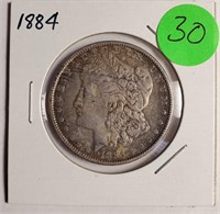 1884 - MORGAN SILVER DOLLAR (30)