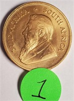 SOUTH AFRICA 10Z FINE GOLD COIN (1)