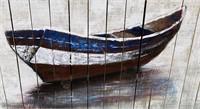 43 - NEW WMC WOODEN WALL ART OF BOAT
