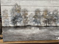 43 - NEW WMC WOODEN CALMING MORNING WALL ART
