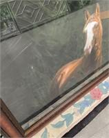 43 - NEW WMC FRAMED HORSE WALL ART