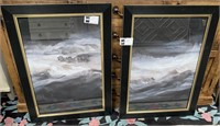 43 - NEW WMC SMOKE EYES I & II WALL ART ($199.90)