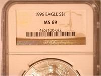 1996 American Eagle, Silver 1 Dollar