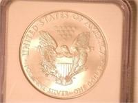 2008 American Eagle, Silver 1 Dollar Burnished