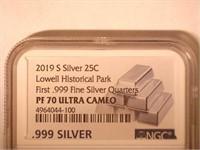 2019 Washington Lowell Historical Park .999 Silver