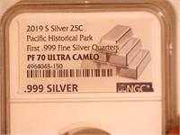 2019 Washington Pacific Historical Park 999 Silver