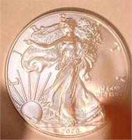 2020 American Eagle, Silver 1 Dollar. 20QT