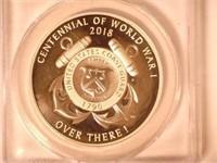 2018 Silver Medal 1 Dollar Coast Guard