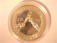 1988 Comm. $1, Silver 1 Dollar Olympic, Proof