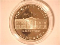 1992 Comm $1, Silver White House 200th Anniversary