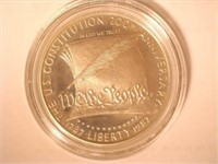 1987 Comm. $1, Silver 1 Dollar Constitution, Proof