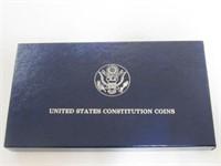 1987 Comm. $1, Silver 1 Dollar Constitution