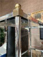 714 -RETRO/VINTAGE GLASS/METAL 5 TIER SHELF UNIT