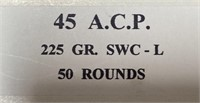 335 - NICKEL 50 ROUNDS & 31 ROUNDS 45 A.C.P. AMMO