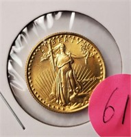 GOLD $10 DOLLAR COIN 1/4 OZ (61)